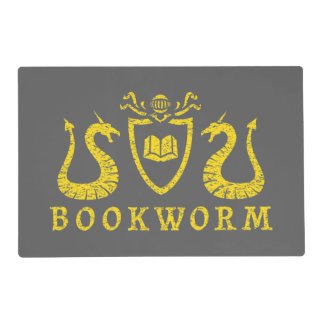 Heraldic Bookworm Placemat