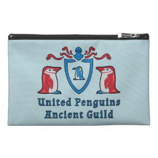 Heraldic Cartoon Penguins Travel Accessory Bag