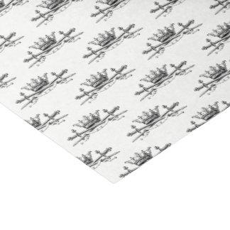 Heraldic Crown Crossed Swords Sabers Emblem Crest Tissue Paper