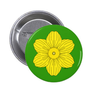 Heraldic Daffodil Button