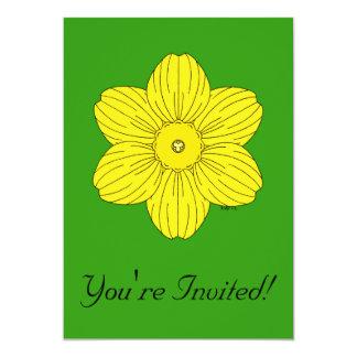 Heraldic Daffodil Invitation