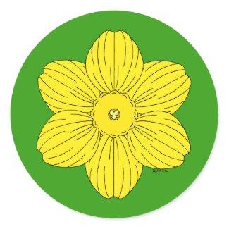 Heraldic Daffodil Stickers