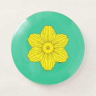 Heraldic Daffodil Wham-O Frisbee