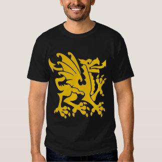 Heraldic Dragon 01 - Amber Tee Shirts