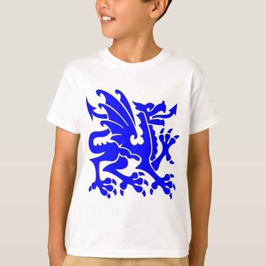 Heraldic Dragon 01 - Blue T-Shirt
