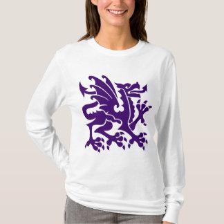 Heraldic Dragon 01 - Deep Purple T-Shirt