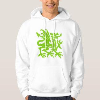 Heraldic Dragon 01 - Martian Green Hooded Sweatshirt