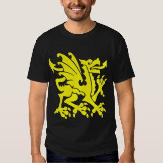 Heraldic Dragon 01 - Yellow T Shirt