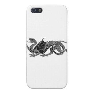 Heraldic Dragon in Black & White Case For iPhone SE/5/5s