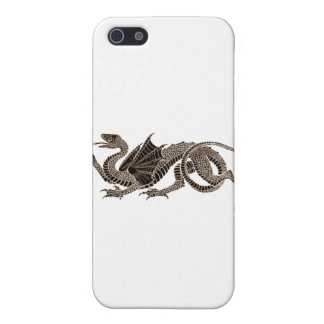 Heraldic Dragon in Sepia Cover For iPhone SE/5/5s