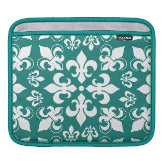 Heraldic French Fleur de Lis Pattern iPad Sleeves