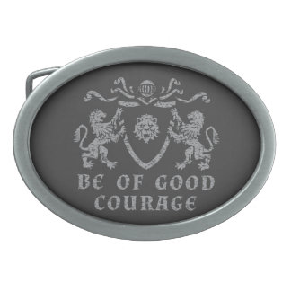 Heraldic Good Courage Belt Buckle