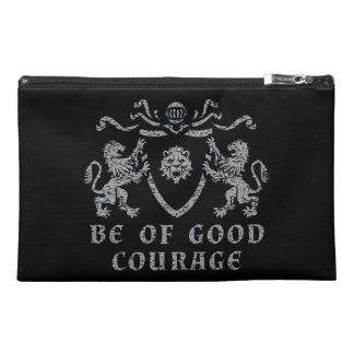 Heraldic Good Courage Travel Accessory Bag