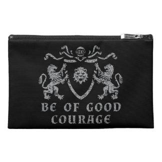 Heraldic Good Courage Travel Accessory Bag