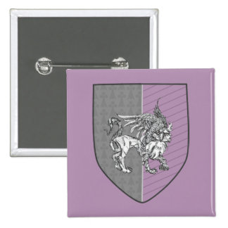 Heraldic Griffin Coat of Arms Pinback Button