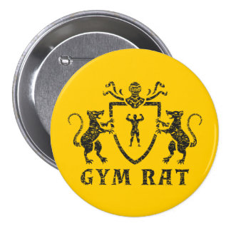 Heraldic Gym Rat Button