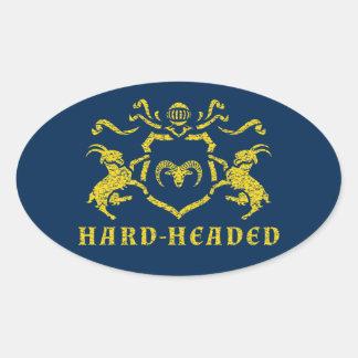 Heraldic Hard-Headed Oval Sticker