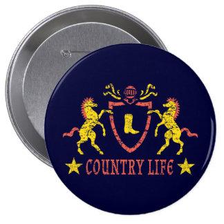Heraldic Horses Button