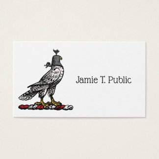 Heraldic Hunting Falcon Wearing Helmet Hood C Business Card