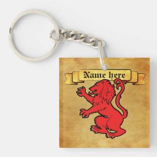 Heraldic Lion Keychain