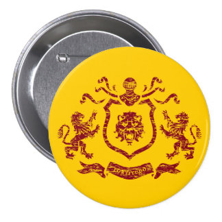 Heraldic Lion Shield Button
