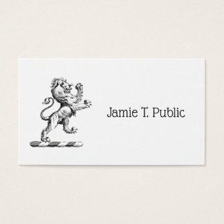 Heraldic Lion Standing Crest Emblem Business Card