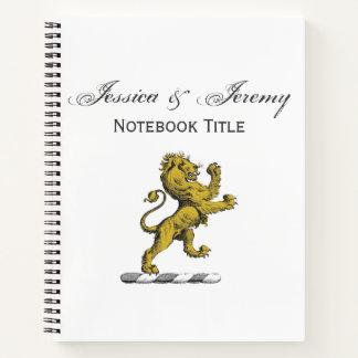 Heraldic Lion Standing Crest Emblem C Notebook