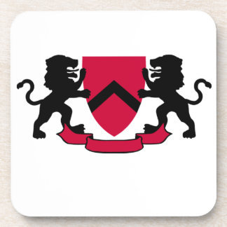 Heraldic Lions and Shield Drink Coaster