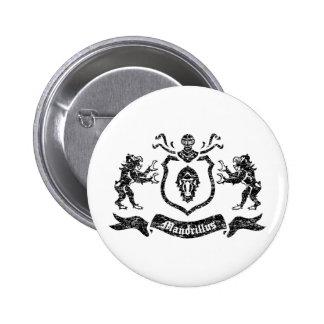 Heraldic Mandrills - Button