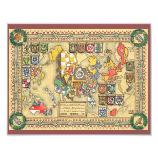 Heraldic Map of the Known World Photo Print