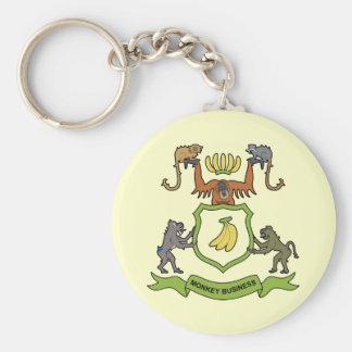 Heraldic Monkey Business - Keychain