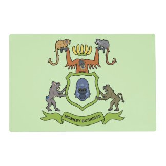 Heraldic Monkey Business Placemat