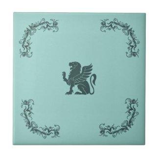 Heraldic Mythical Animals Set Ceramic Tile