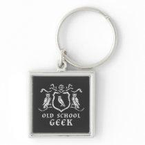 Heraldic Owl Geek Keychain