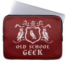 Heraldic Owl Geek Neoprene Laptop Sleeve 13 inch