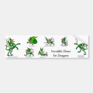 Heraldic Poses for Dragons Bumper Sticker