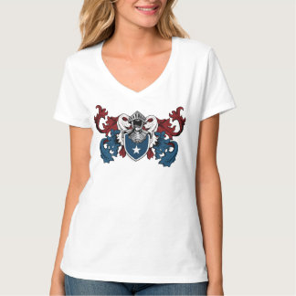 Heraldic shield in american colors T-Shirt