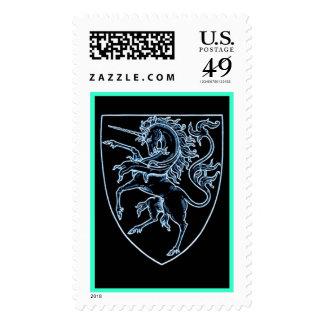 Heraldic Style Unicorn Stamp