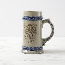 Heraldic Style Unicorn Stein