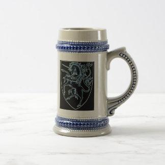 Heraldic Style Unicorn Stein Mug