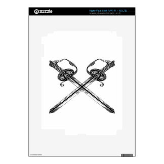 Heraldic sword illustration design decals for iPad 3