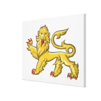 Heraldic symbol of lion statant guardant canvas print