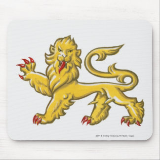 Heraldic symbol of lion statant guardant mouse pad