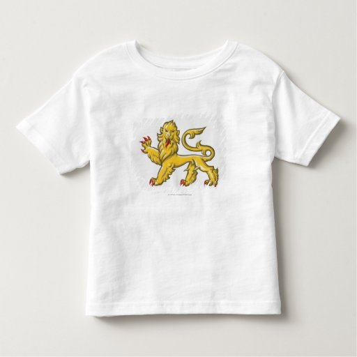 Heraldic symbol of lion statant guardant t-shirt