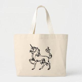 Heraldic Unicorn Canvas Bag