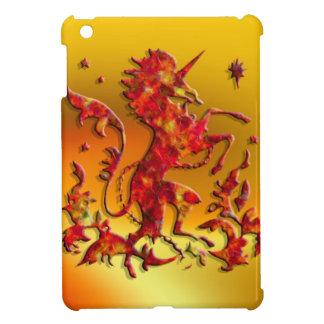 Heraldic Unicorn: Flames iPad Mini Cover