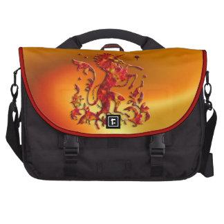 Heraldic Unicorn: Flames Laptop Messenger Bag
