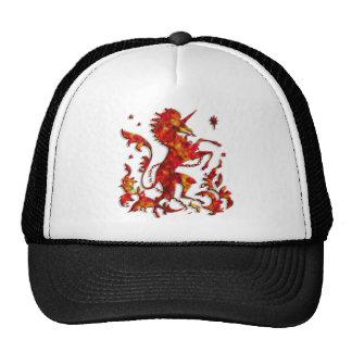 Heraldic Unicorn: Flames Mesh Hat
