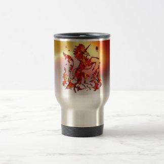 Heraldic Unicorn: Flames Coffee Mug