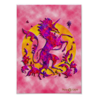 Heraldic Unicorn Posters